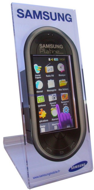 chevalet de comptoir avec écran LCD