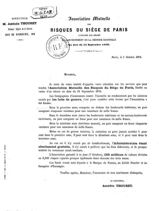 Une publicité curieuse pendant le siège de Paris (1870-1871)