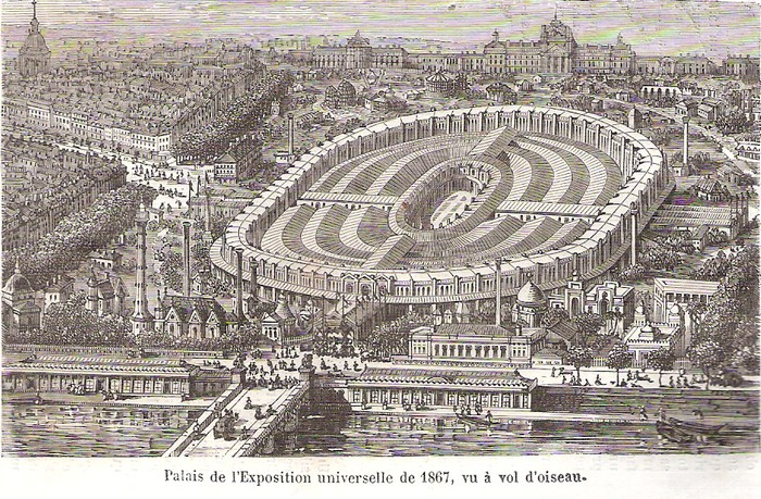 Exposition universellede 1867, palais central