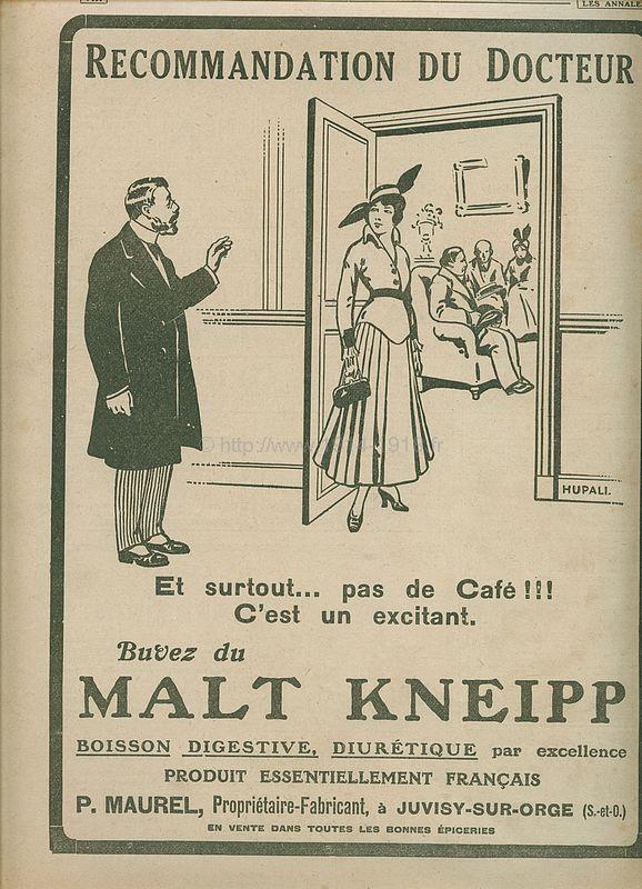 Publicité 4ème de couverture du journal les Annales du 11 juin 1916