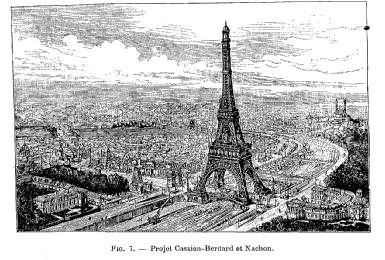 Projet et tour pour l'exposition universelle de Paris 1889