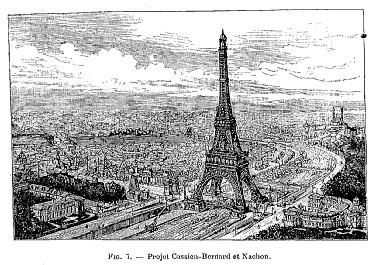 Concours Exposition universelle 1889 : projet Cassien-Bernard