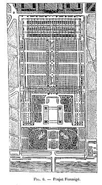 Concours Exposition universelle 1889 : projet Formigé plan de masse