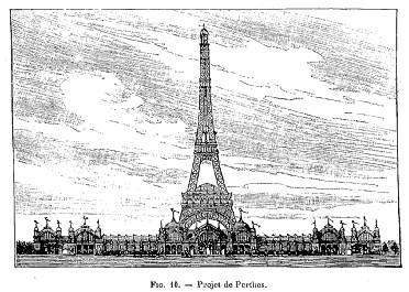 Concours Exposition universelle 1889 : projet Perthes-Eiffel