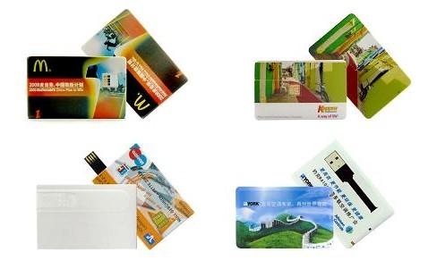 Carte mémoire flash format carte de crédit, clef USB