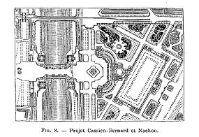 Concours Exposition universelle 1889 : projet Cassien-Bernard plan de masse