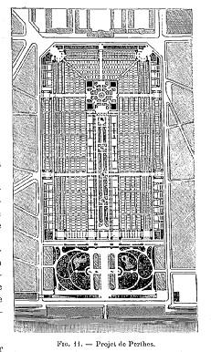Concours Exposition universelle 1889 : projet Perthes Eiffel plan de masse