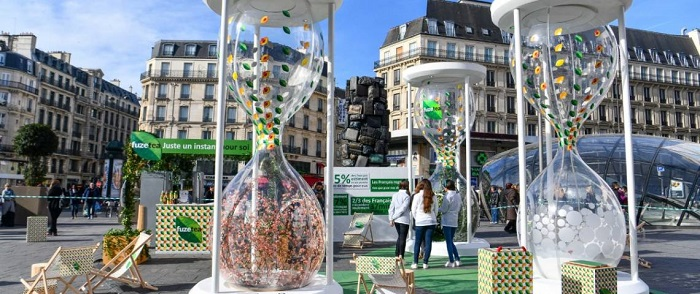 La campagne street marketing de Fuze Tea
