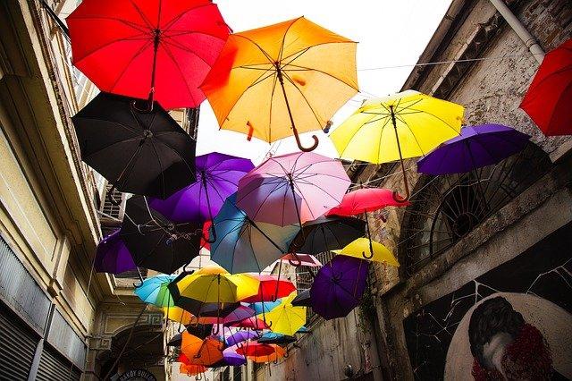 parapluie publicitaire et Plv